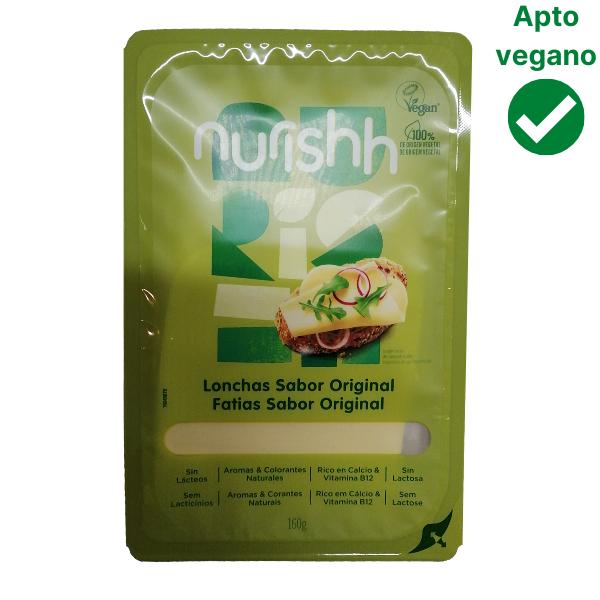 Queso vegano sabor original Nurish en lonchas
