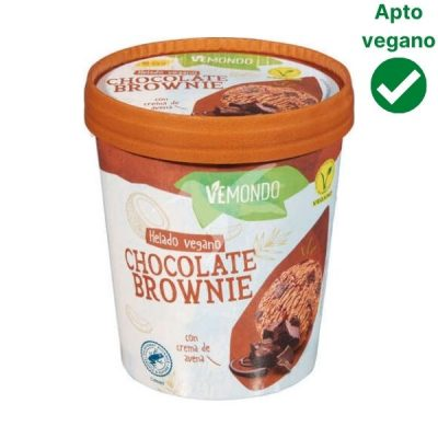 Helado brownie vegano Lidl Vemondo