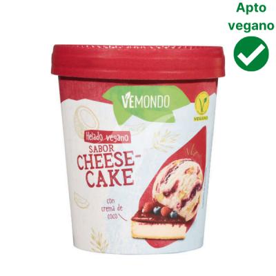 Helado sabor tarta de queso vegano Lidl Vemondo