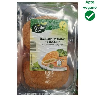 Escalope relleno de brocoli vegano Aldi My veggie day