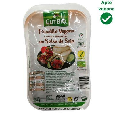Picadillo de soja texturizada con salsa de soja Gutbio Aldi