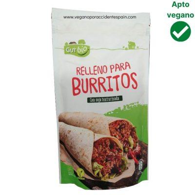Relleno para burritos con soja texturizada y verduras vegano aldi gutbio